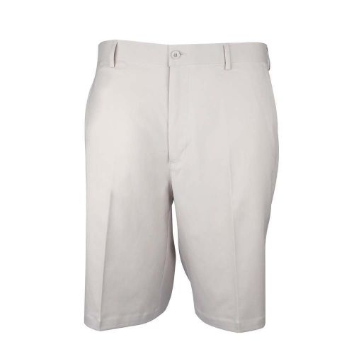 PALM SPRINGS DRYFIT FLAT FRONT GOLF SHORTS CREAM 42