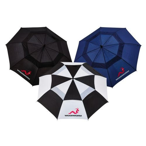 3x Woodworm Double Canopy 60 Golf Umbrellas,3x Woodworm Double Canopy 60 Golf Umbrellas,,,,,,,,,,,,