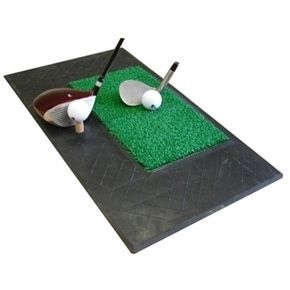Confidence Chip and Drive Mat- 2 Rubber/Turf Area