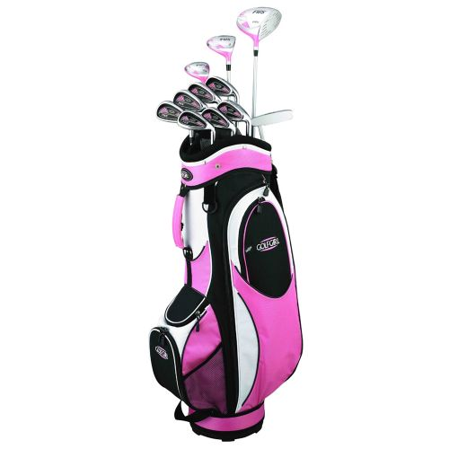 GolfGirl FWS2 Golf Clubs Package Set + Bag Pink - Left Hand