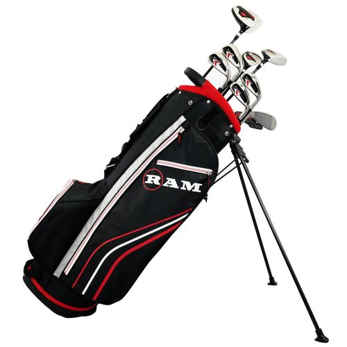 Ram Golf Accubar 12pc Golf Clubs Set - Graphite Shafted Woods, Steel Shafted Irons - Mens Right Hand - Stiff Flex,,,,,,,