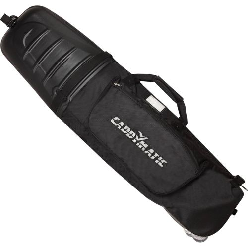 Caddymatic Hard Top Shell Padded Travel Cover with Wheels,,,