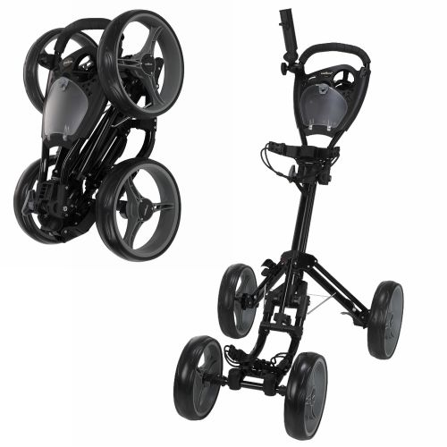 Caddymatic Golf Quad 4-Wheel Folding Golf Pull / Push Cart Black,Caddymatic Golf Quad 4-Wheel Folding Golf Pull / Push Cart Black,,,,