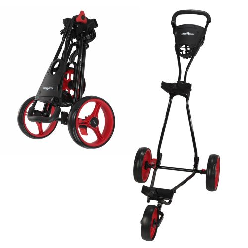 Caddymatic Golf Continental 3 Wheel Folding Golf Push/Pull Cart Black/Red,Caddymatic Golf Continental 3 Wheel Folding Golf Push/Pull Cart Black/Red,,,,,,,,,,