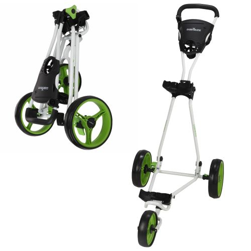 Caddymatic Golf Continental 3 Wheel Folding Golf Push/Pull Cart White/Green,Caddymatic Golf Continental 3 Wheel Folding Golf Push/Pull Cart White/Green,,,,
