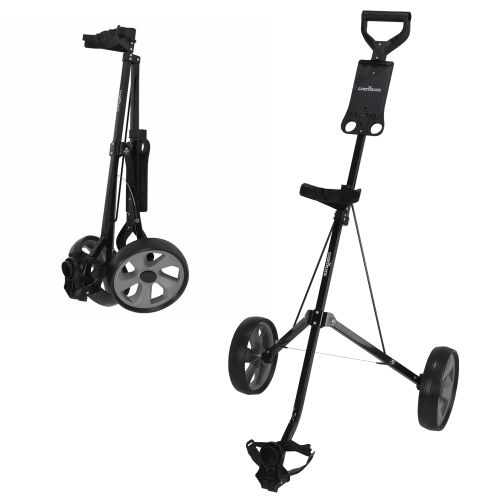 Caddymatic Golf i-Trac 2 Wheel Folding Golf Cart Black/Grey,,