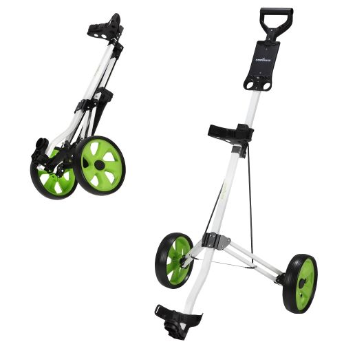 Caddymatic Golf Lite Trac 2 Wheel Folding Golf Cart White/Green,Caddymatic Golf Lite Trac 2 Wheel Folding Golf Cart White/Green,,,,