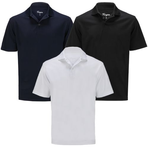 Forgan of St Andrews Premium Performance Golf Shirts 3 Pack - Mens