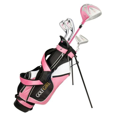 OPEN BOX Golf Girl Junior Girls Golf Set V3 with Pink Clubs and Bag, Ages 4-7, Right Hand