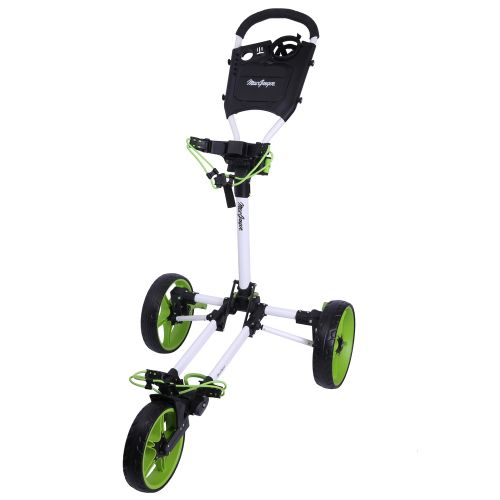MacGregor Golf Flat Fold 3 Wheel Golf Cart / Trolley - Folds Completely Flat