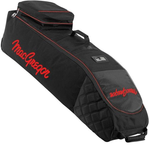 MacGregor Golf VIP Deluxe Wheeled Golf Travel Cover / Flight Bag Black/Red