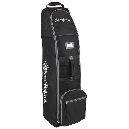 MacGregor Golf VIP Deluxe Wheeled Golf Travel Cover / Flight Bag Black/Silver