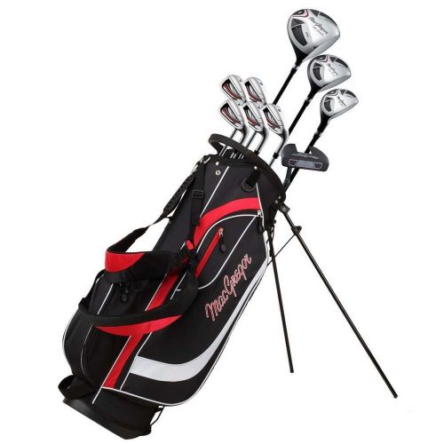 MacGregor Golf CG2000 1 Inch Longer Golf Club Package Set with Stainless Steel Irons, GRAPHITE/STEEL SHAFTS and Regular Flex