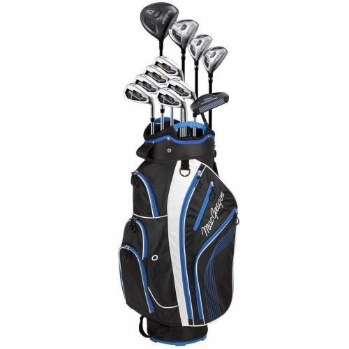 MacGregor DCT2000 Premium 1 Inch Longer Golf Graphite/Steel Package Set with Titanium Driver and Stainless Clubs - Stiff Flex