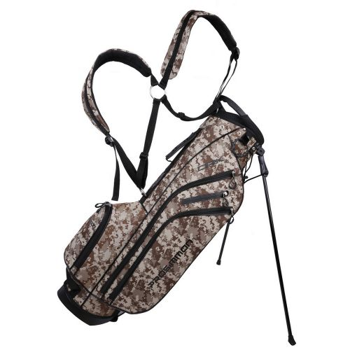 """Prosimmon Golf DRK 7"""" Lightweight Golf Stand Bag with Dual Straps Camo"""