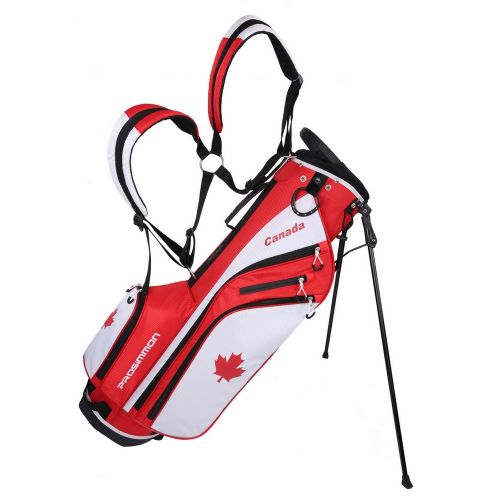 """Prosimmon Golf DRK 7"""" Lightweight Golf Stand Bag with Dual Straps Canadian Flag"""