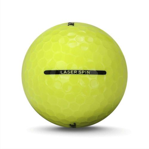 72 Ram Golf Laser Spin Golf Balls - Yellow,