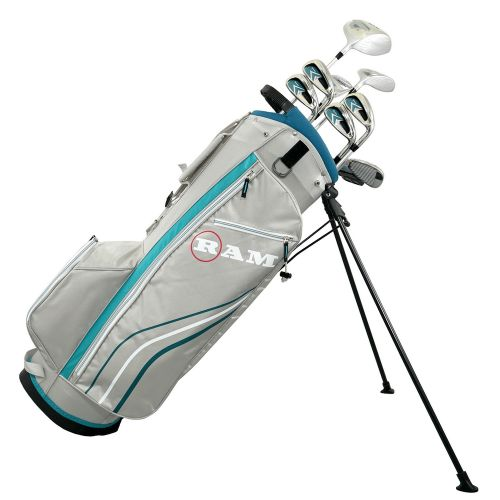 Ram Golf Accubar 12 pc Petite Golf Clubs Set - Graphite Shafted Woods and Irons - Ladies RIght Hand,,,,,,,