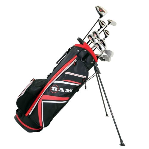 Ram Golf Accubar 16pc 1 Inch Longer Golf Clubs Set - Graphite Shafted Woods, Steel Shafted Irons - Mens Right Hand,,,,,,,,