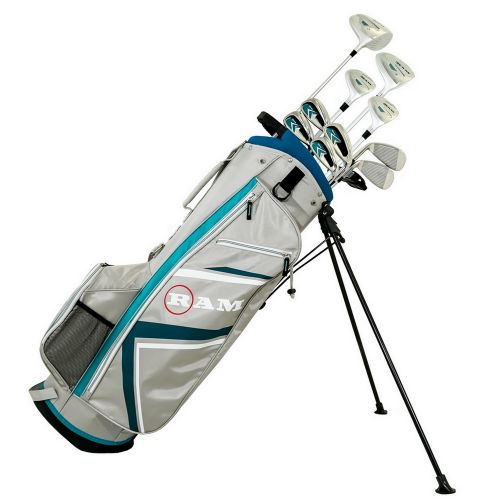 Ram Golf Accubar 16pc Golf Clubs Set - Graphite Shafted Woods and Irons - Ladies Right Hand,,,,,,,,