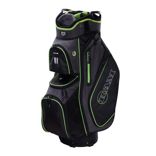 Ram Golf Tour Cart Bag with 14 Full Length Dividers Black/Neon,