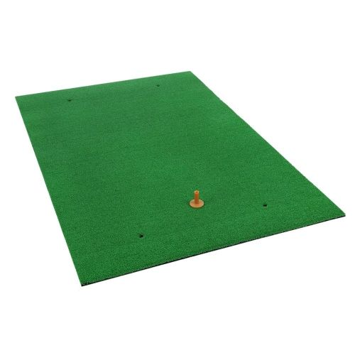 Ram Golf Premium XL Practice Hitting Mat 40 x 60 - Realistic Synthetic Grass with Shock Absorbing EVA Rubber Base