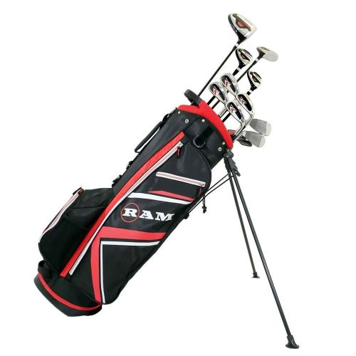 Ram Golf Accubar 16 pc Golf Clubs Set - Graphite Shafted Woods, Steel Shafted Irons - Mens Left Hand,,,,,,,,