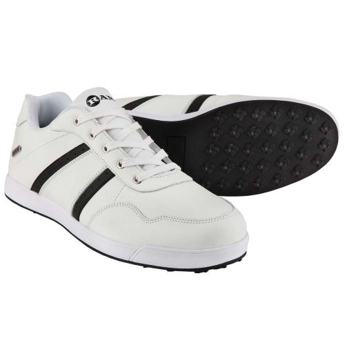 Ram FX Comfort Mens Waterproof Golf Shoes - White / Black