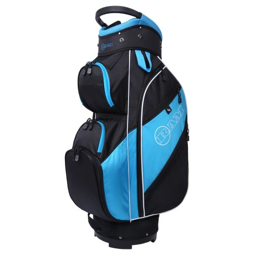 Ram Golf Lightweight Ladies Cart Bag with 14 Way Dividers Top Black/Teal/White