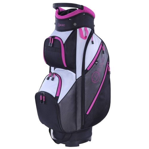 Ram Golf Lightweight Ladies Cart Bag with 14 Way Full Length Dividers Grey/Pink