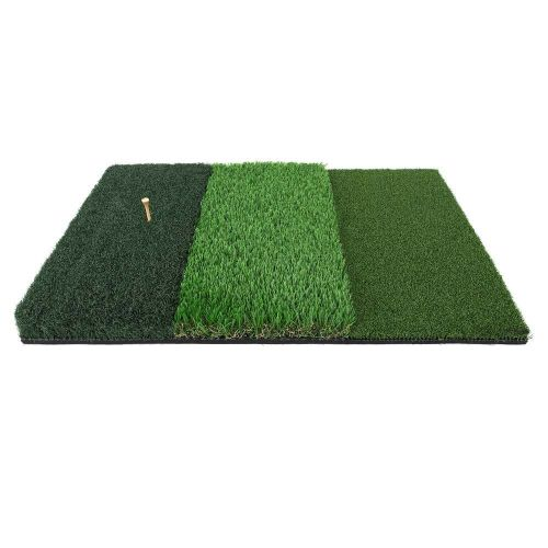 Ram Golf Tri-Surface Practice Hitting Mat - Fairway, Rough and Tee Box - 16 x 25 - Drives, Approach Shots, Chips and More!