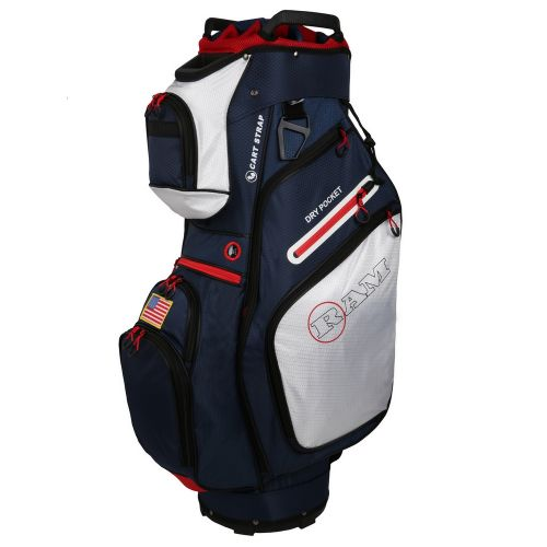 Ram Golf FX Deluxe Golf Cart Bag with 14 Way Dividers USA Flag