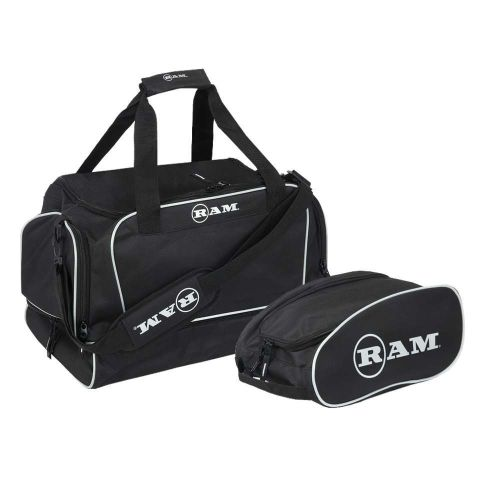 Ram Golf Duffel Bag / Gym Bag / Sports Holdall with Dedicated Shoe Compartment + Free Golf Shoe/Boot Bag