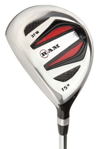 Ram Golf SGS Fairway Wood - Mens Left Hand - Headcover Included - Steel Shaft