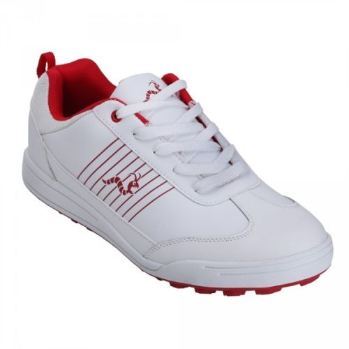 Woodworm Surge Mens Golf Shoes White/Red 8.5