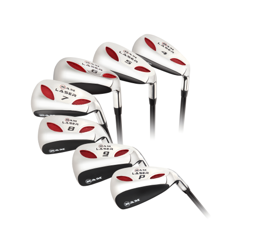 Ram Golf Laser Graphite Hybrid Irons Set 4-PW (7 Clubs) - Mens Left Hand