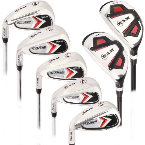 Ram Golf Accubar Mens Clubs Iron Set 6-7-8-9-PW with Hybrids 24° and 27° - Lefty,,,,,,,