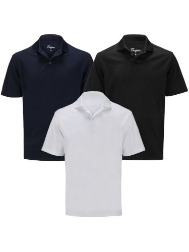 Forgan of St Andrews Premium Performance Golf Polo Shirts 3 Pack - Mens
