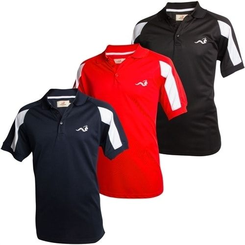 Woodworm Tour Performance Golf Shirts 3 Pack Small