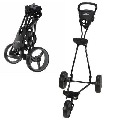 Caddymatic Golf Continental 3 Wheel Folding Golf Push/Pull Cart Black