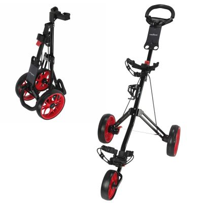 Caddymatic Golf Pro Lite 3 Wheel Golf Cart Black/Red