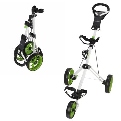 Caddymatic Golf Pro Lite 3 Wheel Golf Cart White/Green