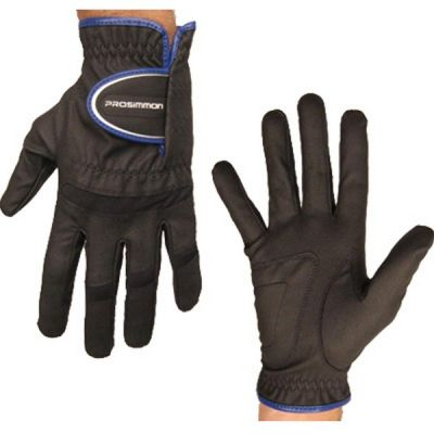 Prosimmon Mens All-Weather Left Hand Golf Gloves Black Small