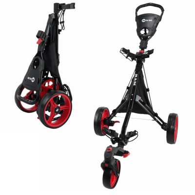 Ram Golf Push / Pull 3-Wheel Golf Cart with 360 Degree Rotating Front Wheel for Ultimate Agility