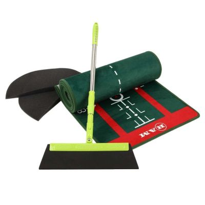 Ram Golf PROFESSIONAL Dual Grain Putting Mat with Distance Markers and Slope