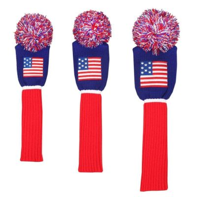 Ram USA Stars and Stripes Knitted Golf Headcover Set for Driver, Wood and Hybrid