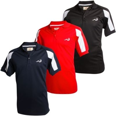 Woodworm Golf Tour Performance Polo Shirts -3 Pack - Small